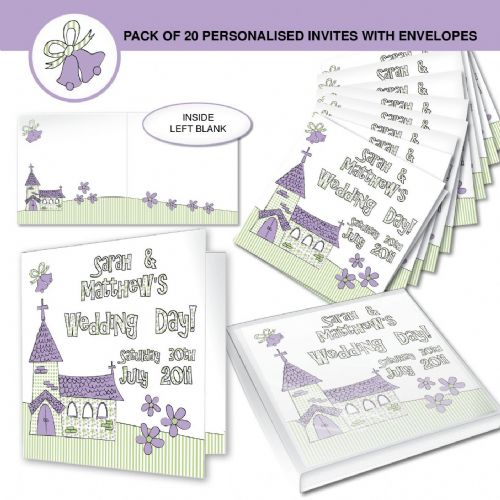 Personalised Wedding Church Invitations